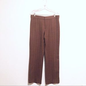 Ralph Lauren Brown & Camel Herringbone Wool Pants!